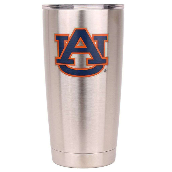 Bar & Glassware - Auburn 20oz Tumbler In Silver By Gametime Sidekicks