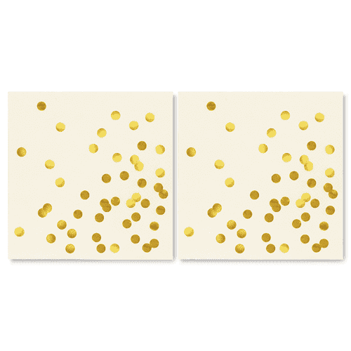 Bar & Glassware - Cocktail Napkins In Gold Dots By Kate Spade New York
