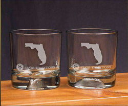 Bar & Glassware - Florida Gameday Glassware (Set Of 2) By State Traditions
