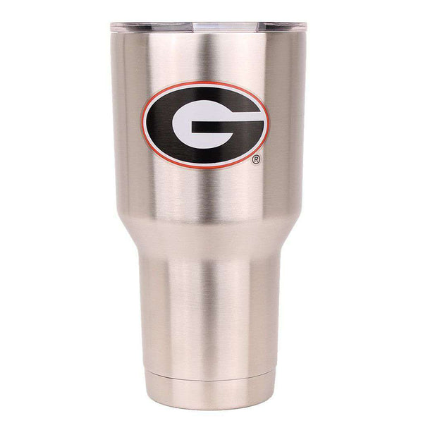 Bar & Glassware - Georgia 30oz Tumbler In Silver By Gametime Sidekicks