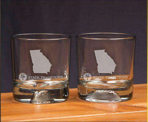 Georgia Gameday Glassware (Set of 2) by State Traditions