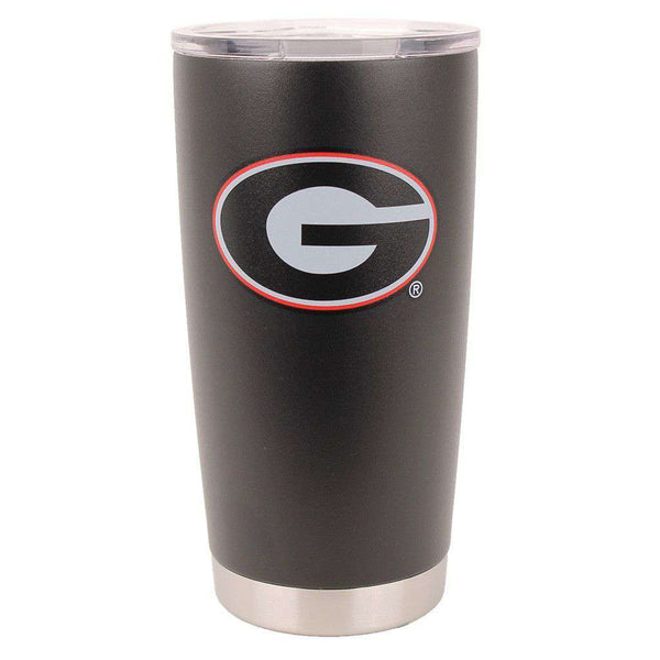 Bar & Glassware - Georgia Powder Coated 20oz Tumbler In Black By Gametime Sidekicks