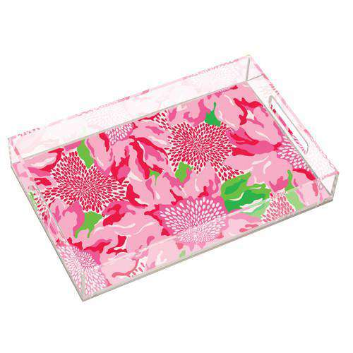 Bar & Glassware - Large Acrylic Serving Tray In Holiday Twinkle By Lilly Pulitzer