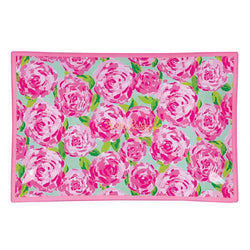 Bar & Glassware - Large Glass Catchall Tray In First Impression By Lilly Pulitzer