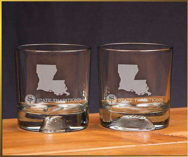 Bar & Glassware - Louisiana Gameday Glassware (Set Of 2) By State Traditions