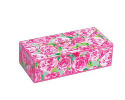 Bar & Glassware - Medium Glass Storage Box In First Impression By Lilly Pulitzer