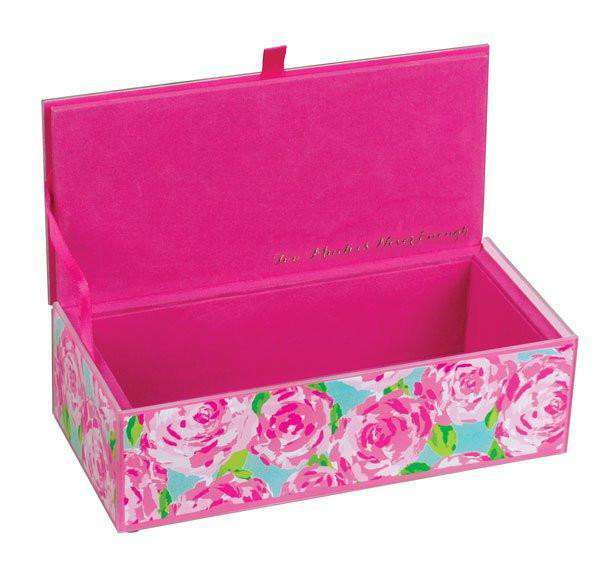 Medium Glass Storage Box in First Impression by Lilly Pulitzer