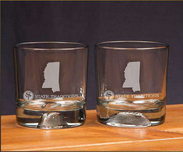 Mississippi Gameday Glassware (Set of 2) by State Traditions
