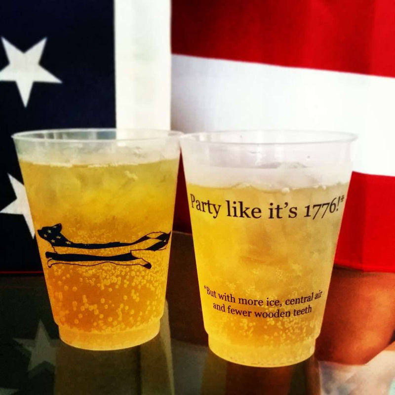 Bar & Glassware - Party Like It's 1776 Red Blooded American Cups - Set Of 11 By Country Club Prep