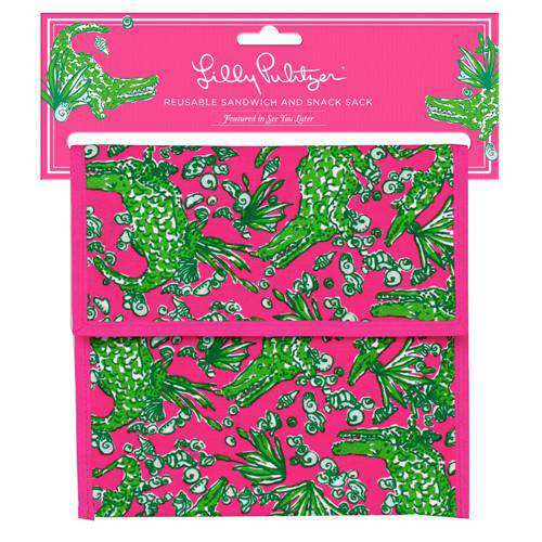 Bar & Glassware - Reusable Sandwich And Snack Sack In See You Later By Lilly Pulitzer