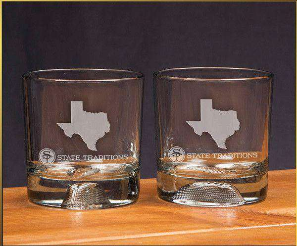 Texas Gameday Glassware (Set of 2) by State Traditions
