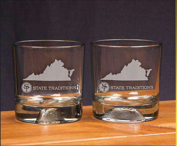 Virginia Gameday Glassware (Set of 2) by State Traditions