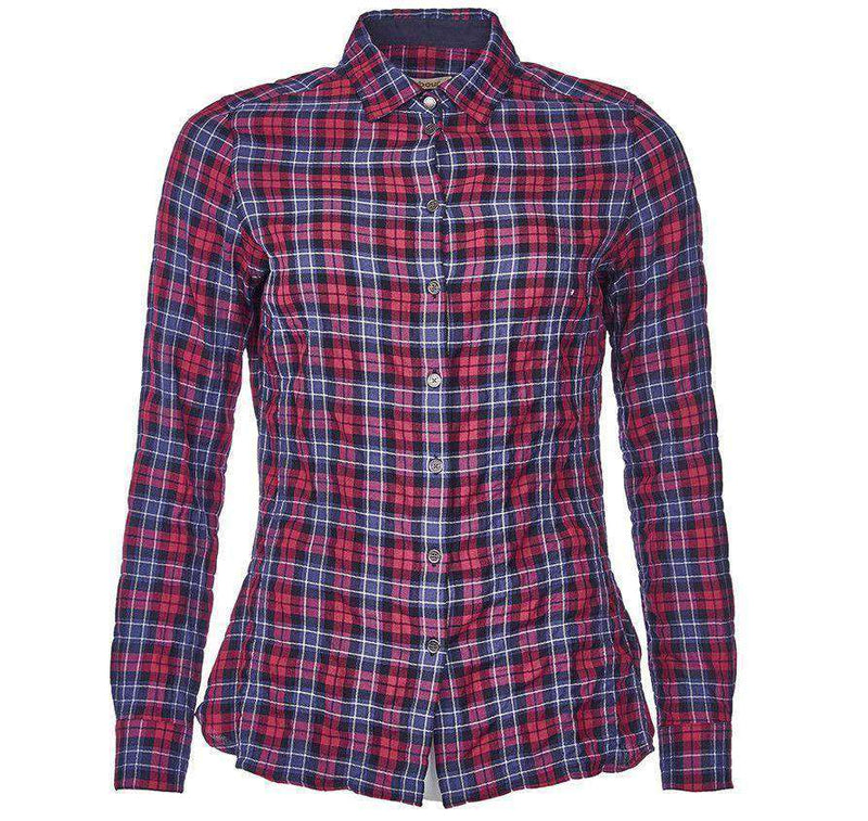 Barlett Shirt in Navy and Red Check by Barbour - FINAL SALE