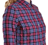 Barlett Shirt in Navy and Red Check by Barbour  - 4