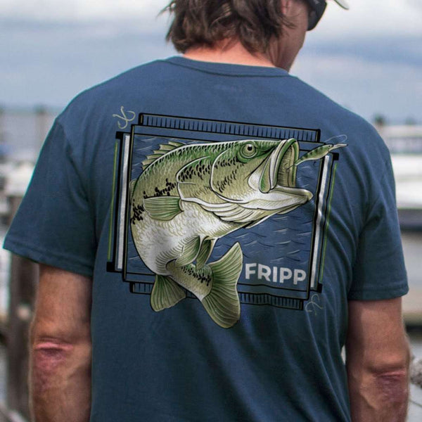 Fripp & Folly Freshwater Bass Lunge Tee by Fripp Outdoors