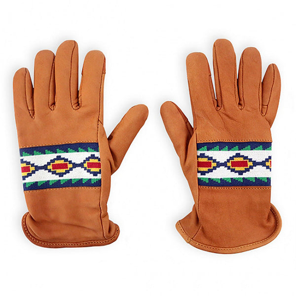 Apache Pattern Needlepoint Gloves by Smathers & Branson
