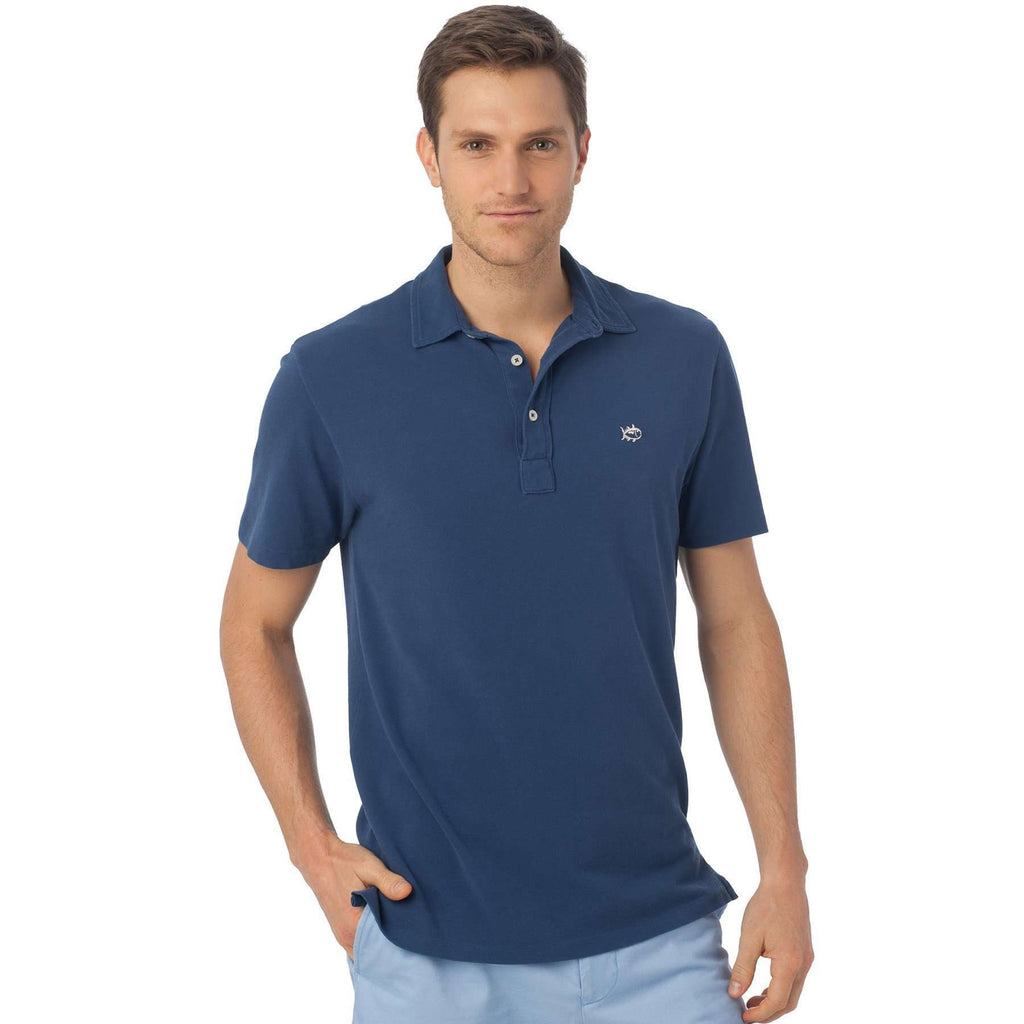 Short Sleeve Beachside Polo in Federal Blue by Southern Tide  - 1