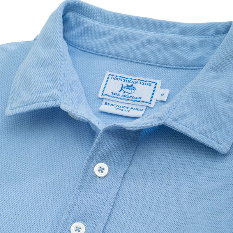 Short Sleeve Beachside Polo in Sky Blue by Southern Tide  - 2