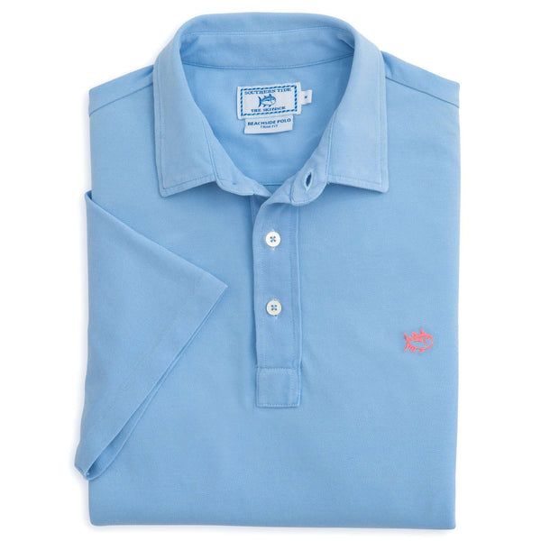 Short Sleeve Beachside Polo in Sky Blue by Southern Tide  - 1