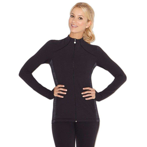 Inner Calm Mock Neck Jacket in Black by Beyond Yoga