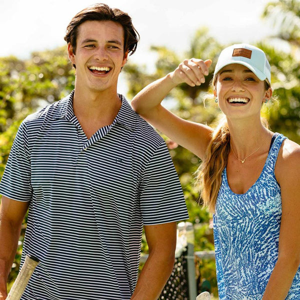 Bimini Striped Brrr Performance Polo Shirt by Southern Tide