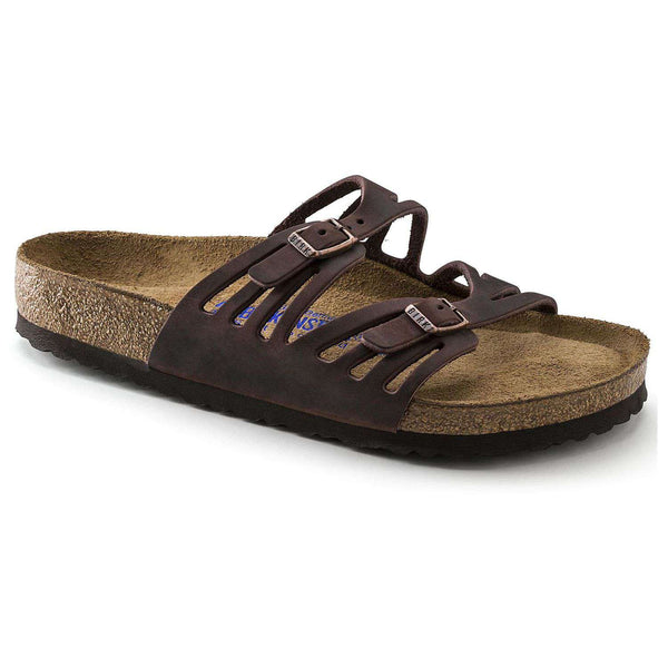 Birkenstock Granada Sandal in Habana Oiled Leather with Soft Footbed