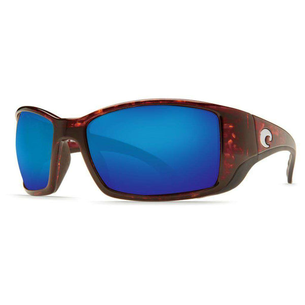 Blackfin Sunglasses in Tortoise with Blue Mirror Polarized Glass Lenses by Costa del Mar