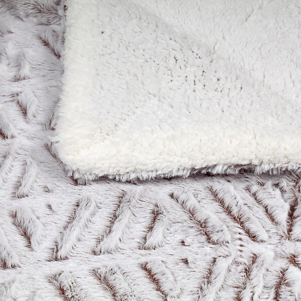 Stavanger Double Texture Sherpa Blanket by Nordic Fleece