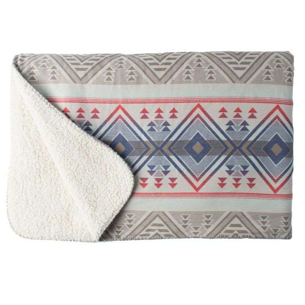 Aspen Sherpa Blanket in Washed Aztec by Faherty - FINAL SALE