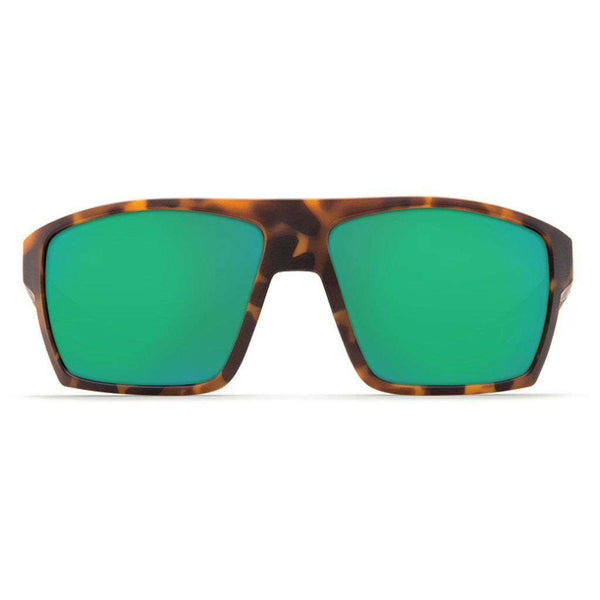 Bloke Sunglasses in Matte Retro Tortoise & Matte Black with Green Mirror Polarized Glass Lenses