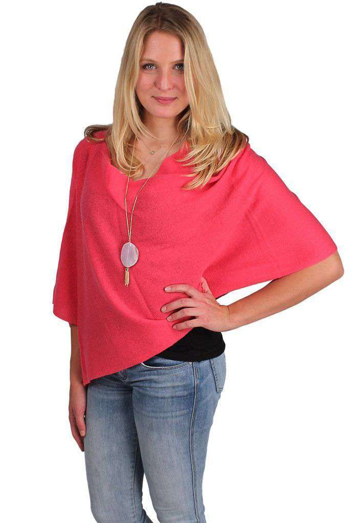 Blouses - Cashmere Dress Topper In Hibiscus Pink By Alashan Cashmere
