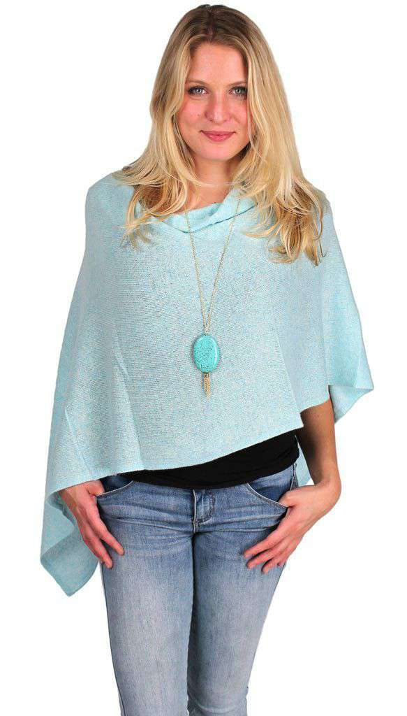 Blouses - Cashmere Dress Topper In Opal By Alashan Cashmere