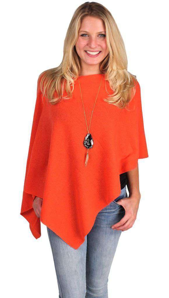 Cashmere Dress Topper in Tropicana Orange by Alashan Cashmere