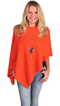 Blouses - Cashmere Dress Topper In Tropicana Orange By Alashan Cashmere