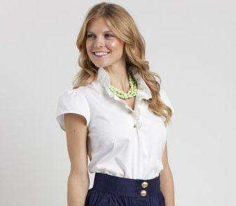Blouses - Elizabeth Ruffled Blouse In White By Elizabeth McKay