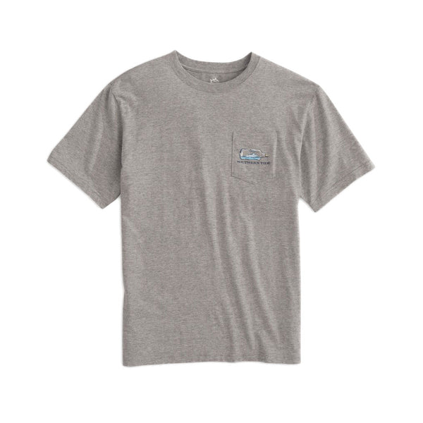 Boat in a Bottle Heathered Tee Shirt by Southern Tide