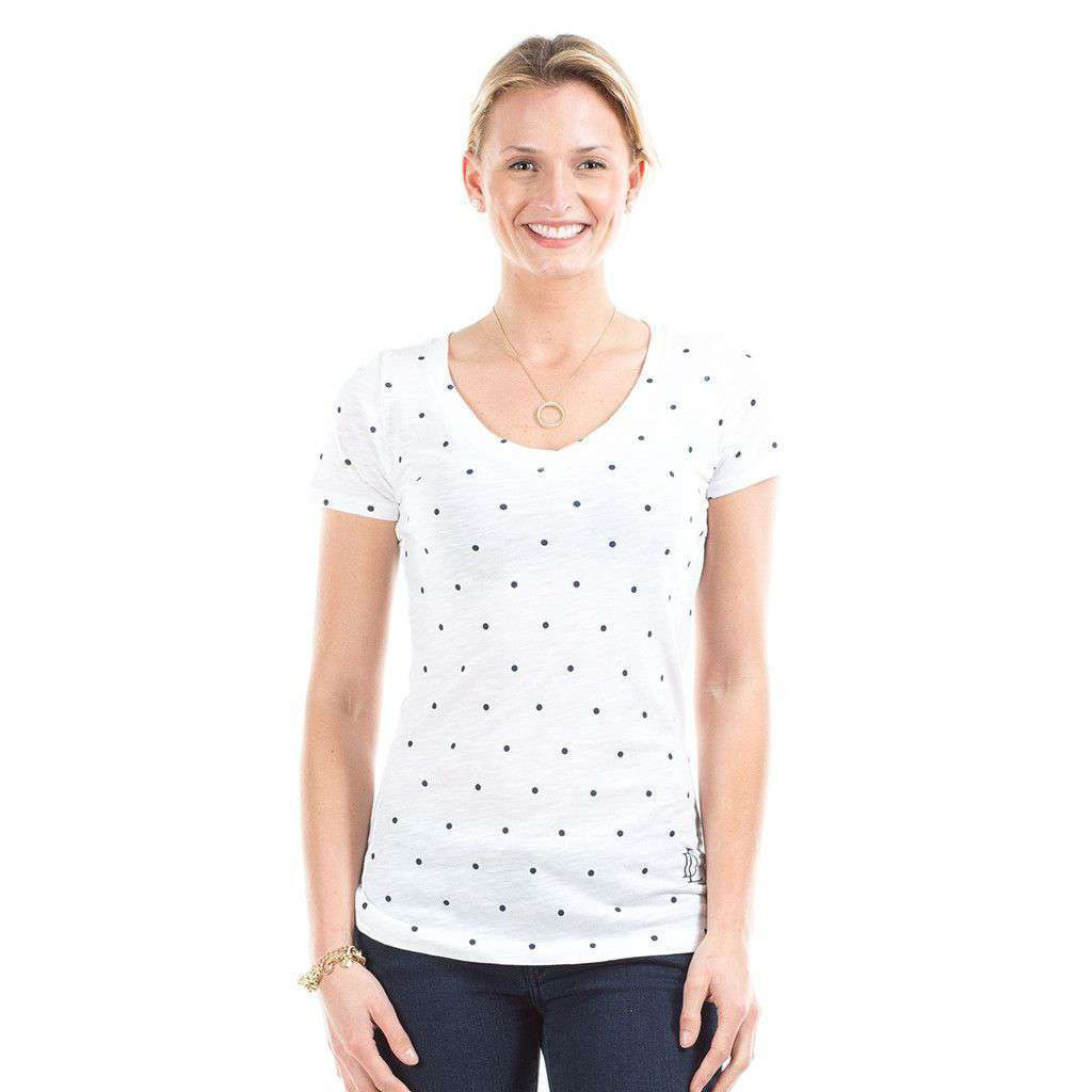 Dottie Tee in White by Duffield Lane  - 1