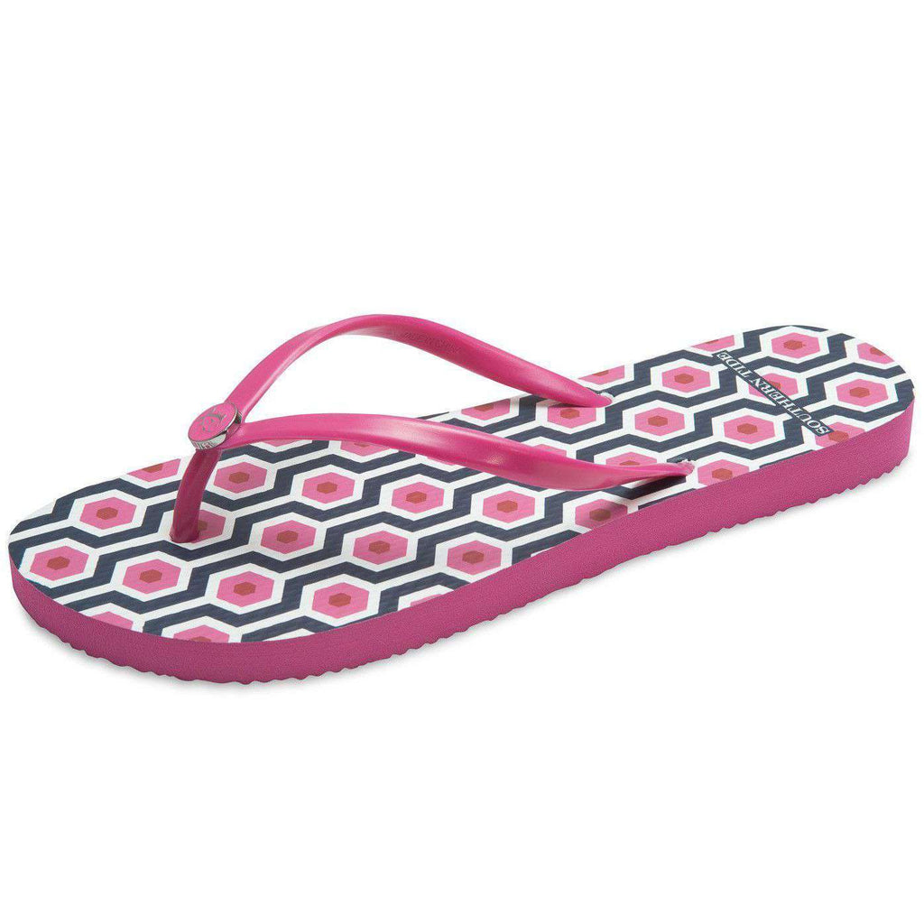 Boardwalk Flip Flop in Geo Print by Southern Tide