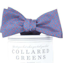 Bow Ties - Ahoy Bow Tie In Blue & Pink By Collared Greens