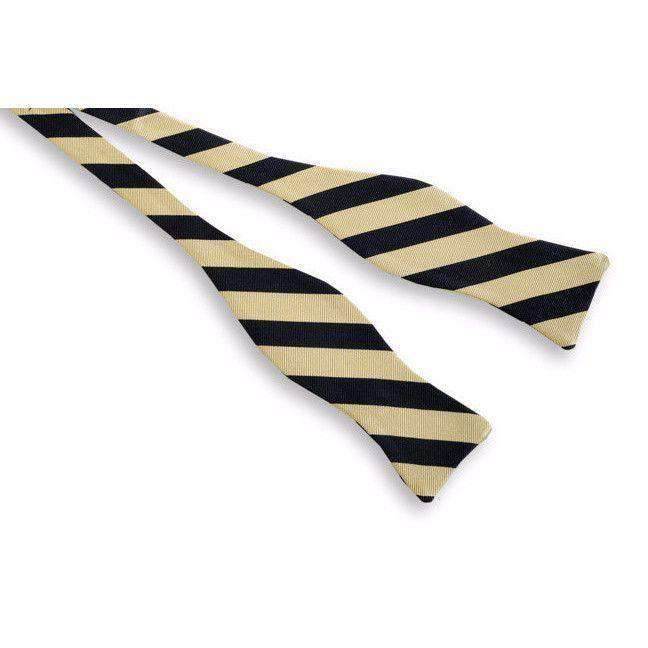 Bow Ties - All American Stripe Bow Tie In Black And Gold By High Cotton