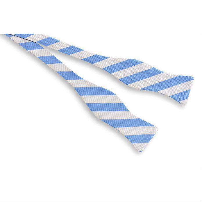 All American Stripe Bow Tie in Carolina Blue and White by High Cotton