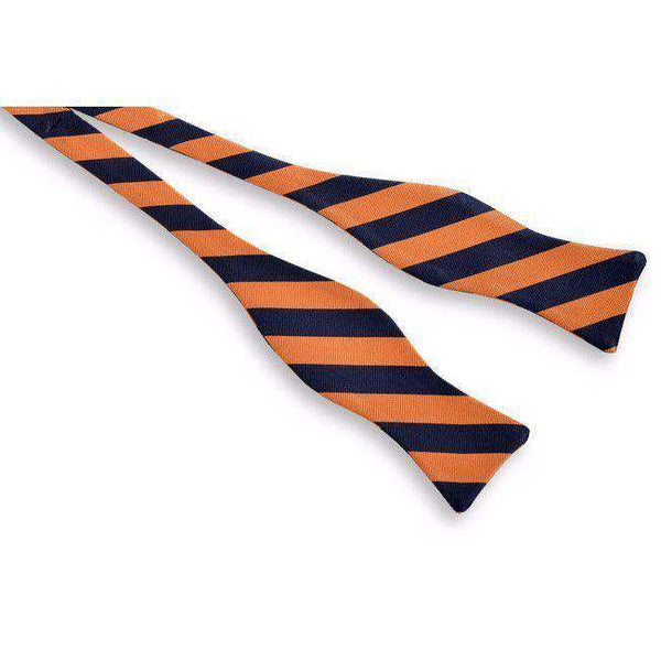 All American Stripe Bow Tie in Orange and Navy by High Cotton
