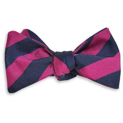 All American Stripe Bow Tie in Pink and Navy by High Cotton