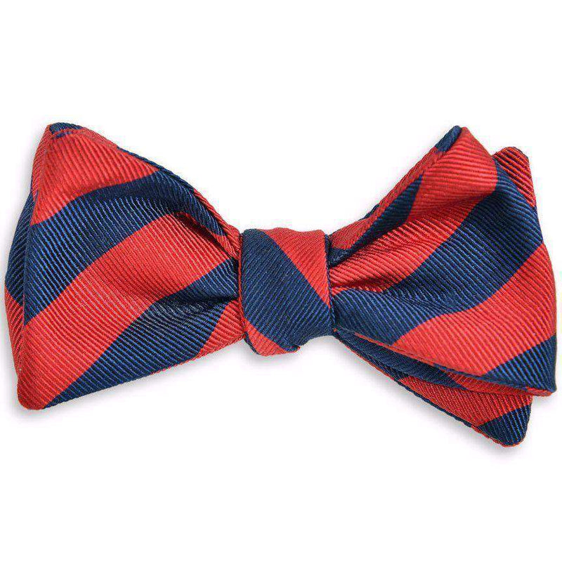 All American Stripe Bow Tie in Red and Navy by High Cotton