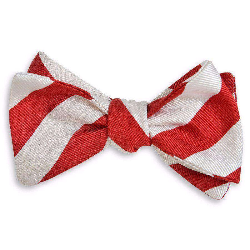 Bow Ties - All American Stripe Bow Tie In Red And White By High Cotton