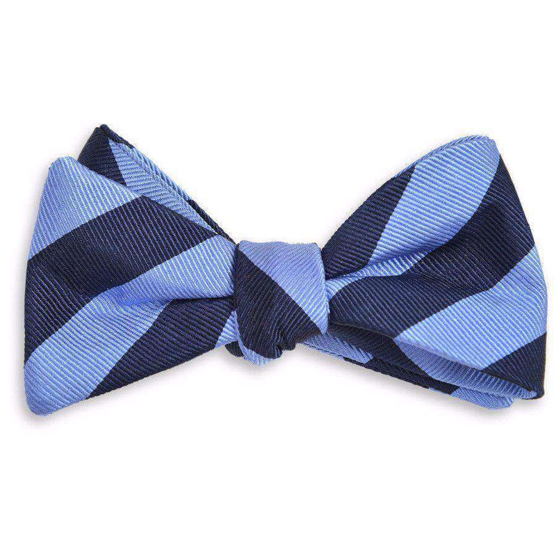 Bow Ties - All American Stripe Bow Tie In Royal Blue And Navy By High Cotton