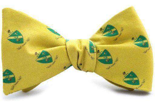 Bow Ties - Alpha Gamma Rho Bow Tie In Gold By Dogwood Black