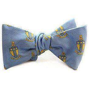 Bow Ties - Alpha Tau Omega Bow Tie In Light Blue By Dogwood Black