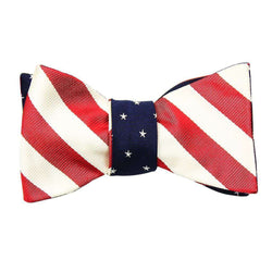 American Flag Bow Tie in Red, White and Blue by Social Primer - FINAL SALE