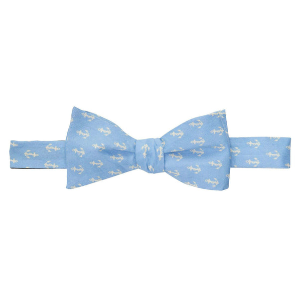Bow Ties - Anchors Up Bow Tie In Hydrangea And Ivory By Southern Proper - FINAL SALE